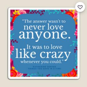 LOVE LIKE CRAZY STICKER