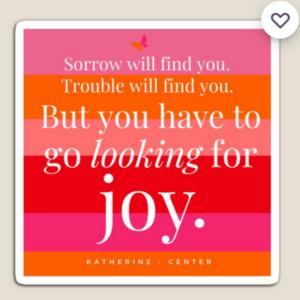 GO LOOKING FOR JOY MAGNET